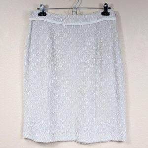 St John Collection Textured Knit Pencil Skirt